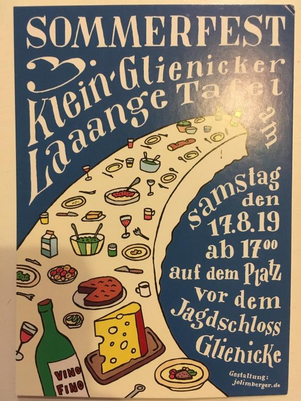 """Sommerfest """"Lange Tafel"""""""